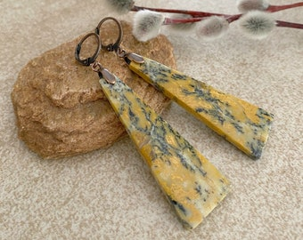 Utah Feather Jasper earrings | natural earth stone jewelry