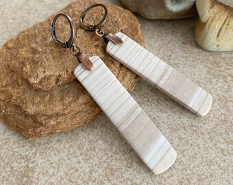 Banded Jasper Earrings | natural earth stone jewelry