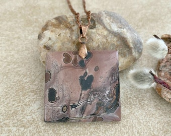 Wild Horse Jasper necklace | natural earth stone jewelry