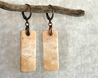 Imperial Jasper earrings | desert sands natural stone jewelry