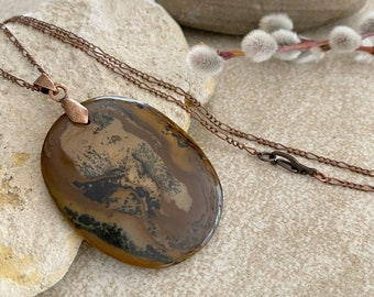 Tiger's Eye Necklace | natural earth stone jewelry