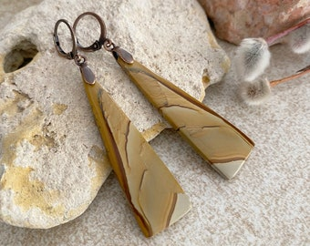 Scenic Jasper Earrings | natural earth stone jewelry