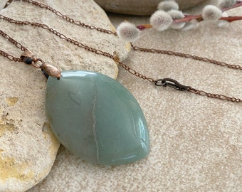 Green Aventurine Necklace | natural earth stone jewelry