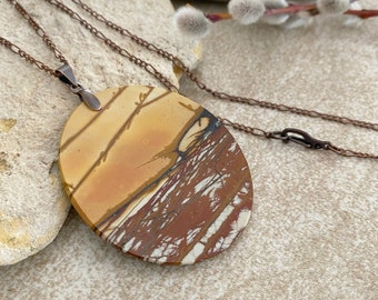 Red Creek Jasper necklace | natural earth stone jewelry