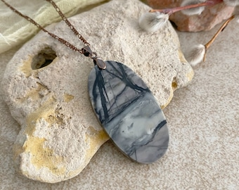 """Dendritic Opal Necklace 