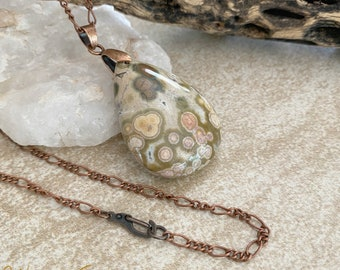 Frog Eye Jasper necklace | natural talisman earth stone jewelry