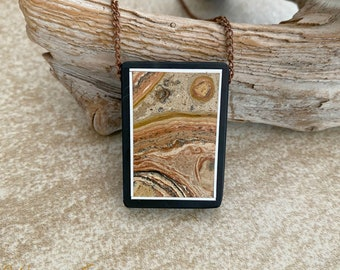 Desert Dance Stone Necklace | natural scenic earth stone jewelry