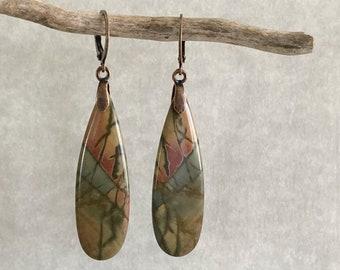 Fancy Jasper Earrings | natural earth stone jewelry