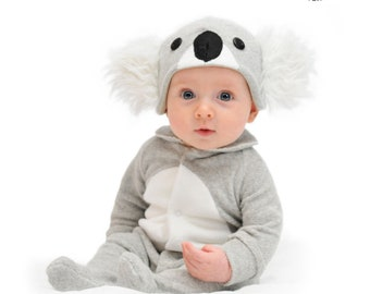 koala baby halloween costume unique baby gift first birthday halloween gift baby onesie photo prop baby clothes gender neutral baby shower