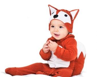 baby orange fox costume woodland animals photo prop funny baby clothes fox ears baby hat halloween costume baby shower gift baby onesie