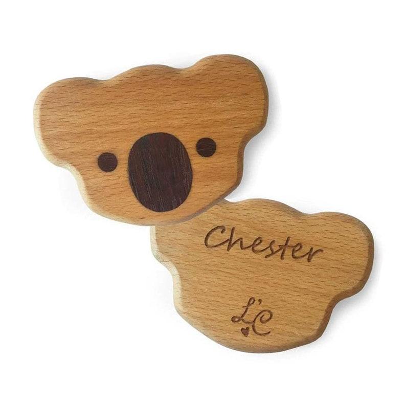 950f60274 Koala Wooden rattle Sensory toys Organic baby rattle | Etsy