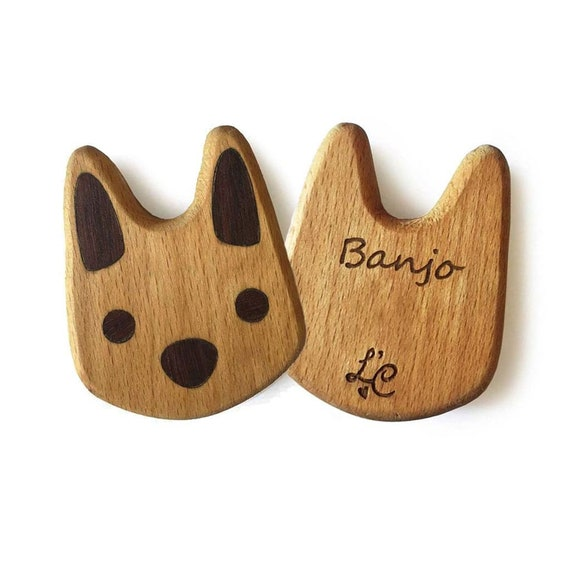 Easter Bunny Organic Wood Rattle Personalised Australian Made Natural Wooden Toy Waldorf Toys Montessori Toys Baby Teether Easter Gift