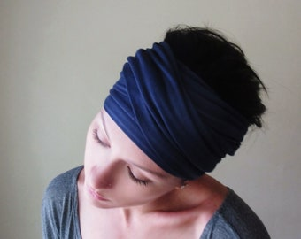MIDNIGHT BLUE Head Wrap efe1fb3608d
