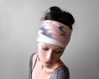 33x33 head wrap gypsy headwear orange scarf Tie dye bandana head cover Shibori Scarf chemo headwear cover Hand Painted cotton wrap