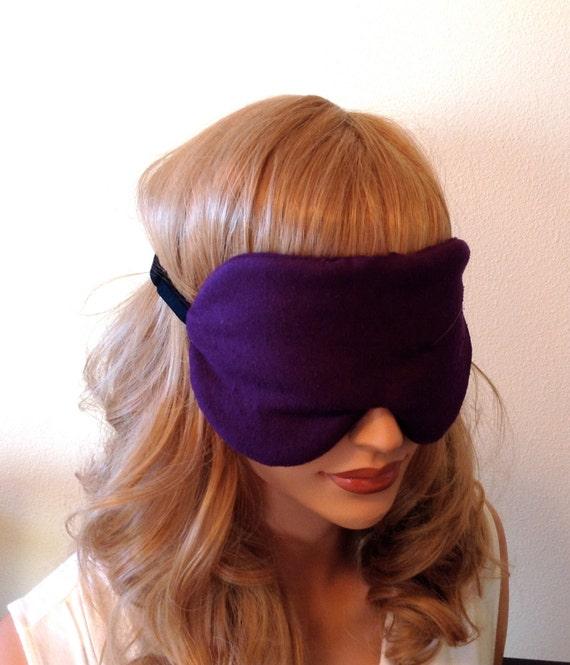 Deep Purple Charmeuse SILK Eye Mask Sleep Mask and Anti-Aging For Sensitive Eyes Fully Adjustable Padded and Light Darkening for Sleep