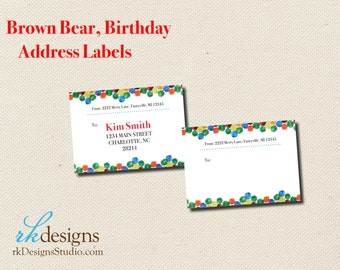 Eric carle invitations etsy brown bear eric carle address labels perfect for birthday party invitations filmwisefo