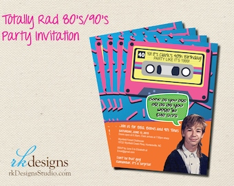 80's Party Invitation or 90's Party Invitation - Saved by the Bell  - DIGITAL ONLY - DIY