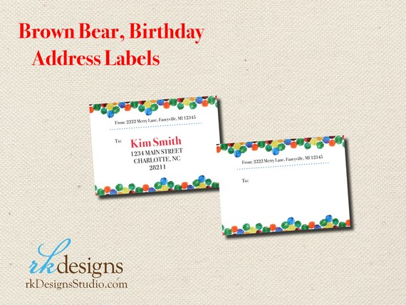 Brown bear eric carle address labels perfect for etsy image 0 filmwisefo