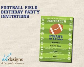 Football Themed Birthday Party Invitations - Wedding Shower
