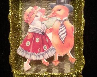 Mr and Mrs Duck Matchbox Ornament