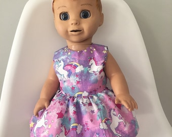 ad2389164e97 Dress to fit Luvabella - purple unicorns