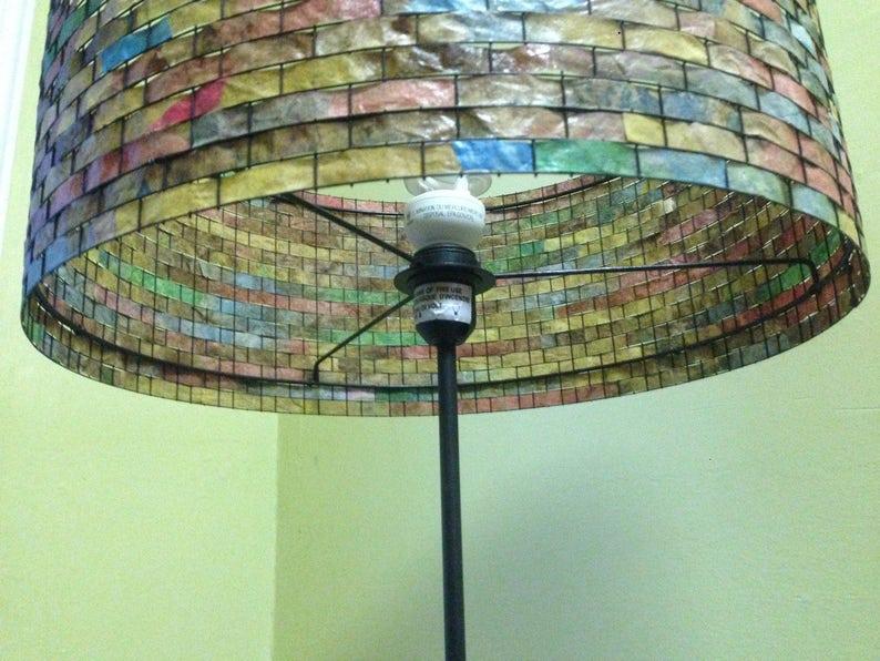 Floor Lamp Unique Lampshade Coffee Filter Lampada
