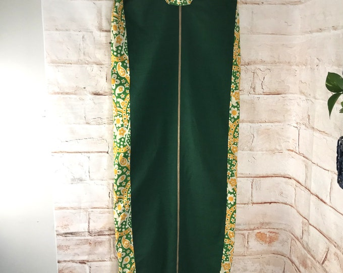 Vintage 1960s 60s Garment Bag Hanging Dress Clothes Travel Storage Flower Power