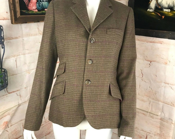 Vintage Ralph Lauren Black Label Hunting Wool Riding Equestrian Jacket Blazer M