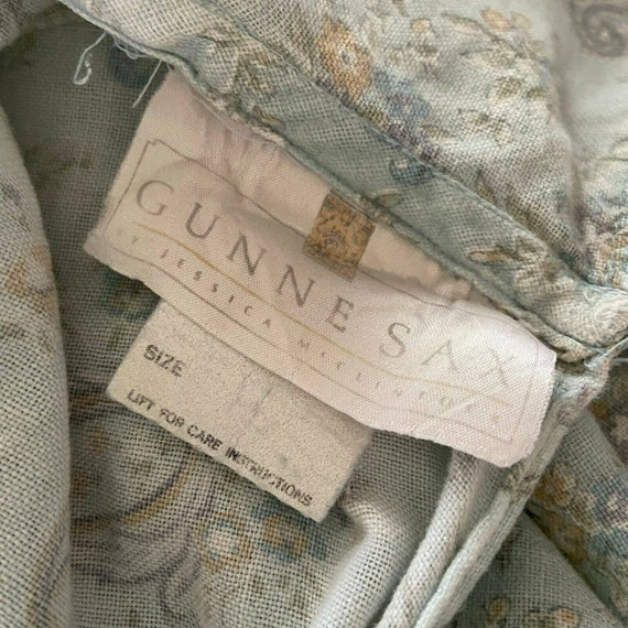 Vintage 80s Gunne Sax Floral Paisley Flannel Midi… - image 10