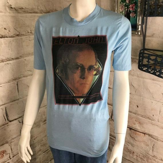 Vintage 1976 Elton John T Shirt 70s Concert Thin Blue S Louder Than Concorde But Not Quite As Pretty1970s