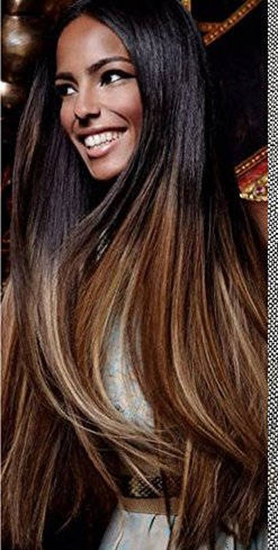 Natural Ombre Hair Extensions Human Hair Extensions Colored Etsy