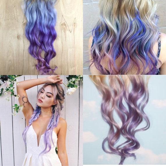 hair extensions lavender
