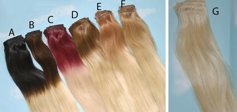 Pink Dip Dyed Hair Extensions For Brunette Hair Clip In Hair Extensions Pastel Festival Hair Hippie Hair 20-22 inches long