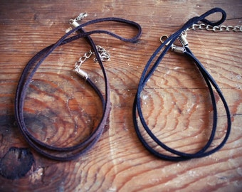 Handmade Suede Leather Necklace Cord