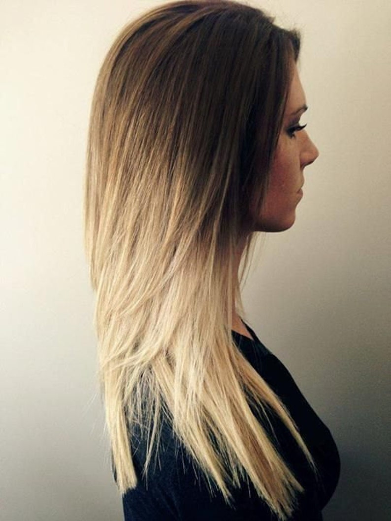 Handmade Bleached Tips Ombre Hair Extensions Human Hair Etsy