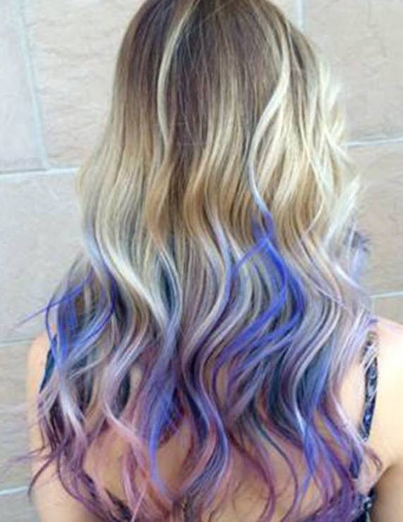 5 Star Seller Grey Purple Ombre Hair Extensions Silver Hair | Etsy