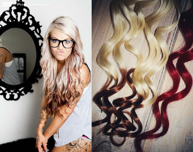 Valentines Day Reverse Ombre Hair Extensions Two Etsy
