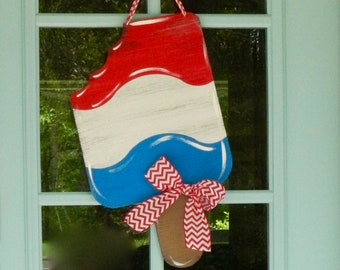 4th of July Wreath - Patriotic Wreath - Summer Wreath - Americana Door Wreath - Red White and Blue Wreath - Choose Bow