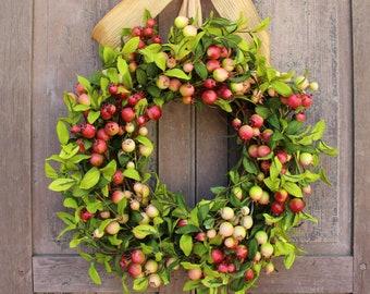 Rosehips Wreath - Spring Wreath - All Season Wreath - Four Season Wreath - Choose Bow