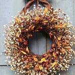 Fall Wreath - Acorn Wreath - Autumn Door Decor - Choose Bow