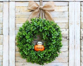 Pumpkin Wreath - Fall Wreath - Thanksgiving Wreath - Autumn Wreath