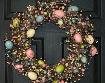 Spring Wreath - Easter Wreath - Egg Wreath-