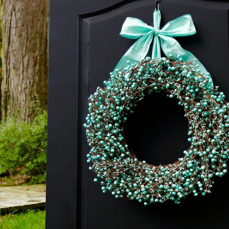 Turquoise Wreath  Robin's Egg Blue Wreath  Year Round image 0