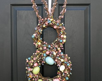 Easter Wreath - Bunny Wreath -Spring Wreath - Easter Decoration -