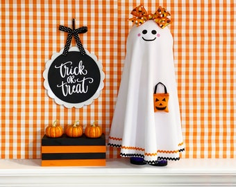 Halloween Ghost - Cute Standing Ghost - Fall Home Decor