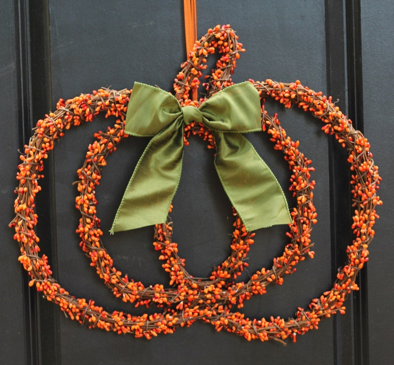 Thanksgiving Wreath  Thanksgiving Door Wreath  Thanksgiving image 0