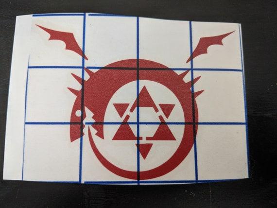 Full Metal Alchemist Homunculus Sticker Die Cut Decal Self Adhesive Vinyl