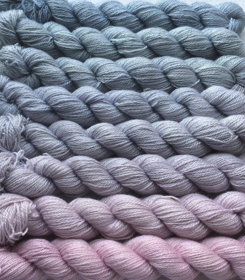 Mystery. 70/% Cashmere Gradient yarn set handdyed yarn fingering 200 g- hand painted dyed shawl ombre 30 Silk