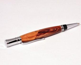 Executive Chrome Twist Pen with Gondillo and Maple