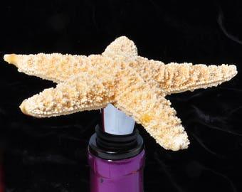 Starfish bottle stopper, wine stopper, wine bottle stopper, gift for her, stocking stuffer, wedding favor, gift for him, bottle stoppers